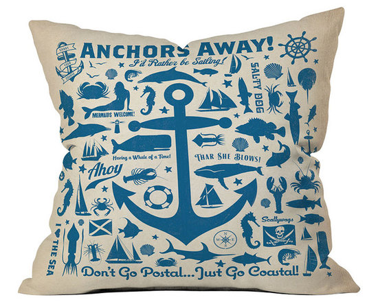 DENY Designs Anderson Design Group Anchors Away Pattern Throw Pillow
