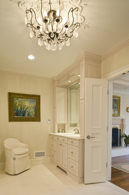 French Inspired Renovation - Master Bathroom traditional-bathroom