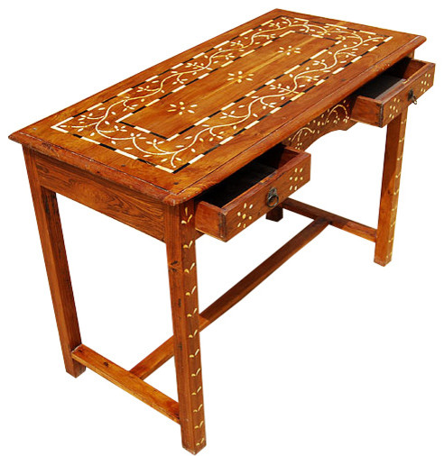 Traditional Foyer Table : Drawer sofa foyer outdoor console table teak wood