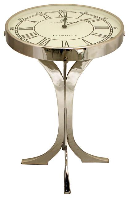 49 Bond Street London Metal Round Pedestal Clock Coffee