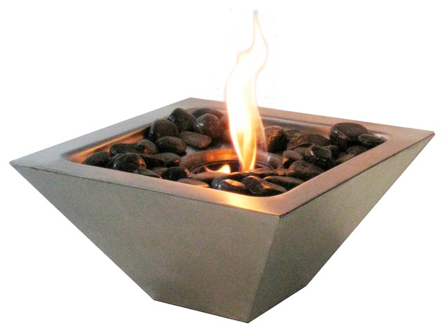 Http Www Houzz Com Photos 13603765 Indoor Outdoor Empire Stainless Tabletop Fireplace With Polished Black Rocks Contemporary Tabletop Fireplaces