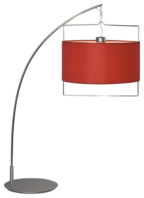 Arc chrome and red contemporary desk lamp contemporary table lamps