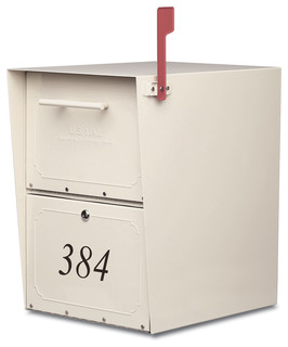 Oasis Locking Post Mount Mailbox Sand - Traditional - Mailboxes - by Architectural Mailboxes
