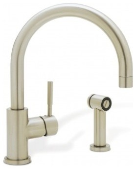 Blanco BLANCOMERIDIAN Single Lever Kitchen Faucet With Metal Side Spray 440009 modern-kitchen-faucets