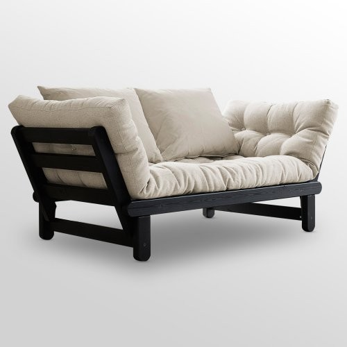 Fresh Futon Beat Black Frame Futon Natural contemporary sofa beds