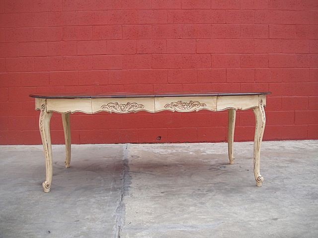 Beautiful Painted French Country Dining Table Shab