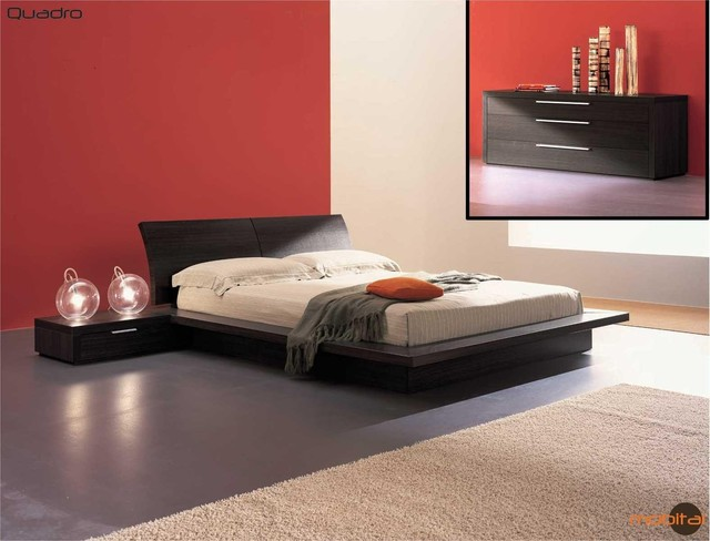 Mobital furniture contemporary oak truffle bedroom set mobi quadro k contemporary for Bedroom furniture salt lake city