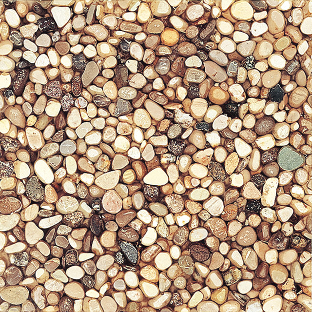 Artistic Tile Riverstone Collection - Mixed Stone Pebbles in Clear Resin - other metro - by ...
