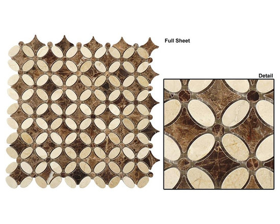 Mirage stone mosaic Flower series - Marble flowers mosaic sheet