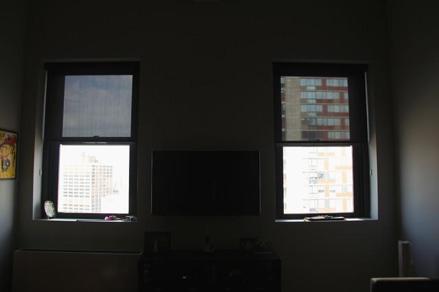 Emma In Downtown Brooklyn Has Solar Shades & Honeycomb modern-curtains