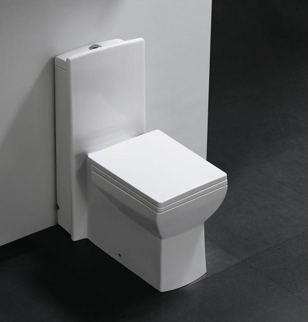 Pesaro One Piece Dual Flush Modern Bathroom Toilet Modern Toilets Dallas By The