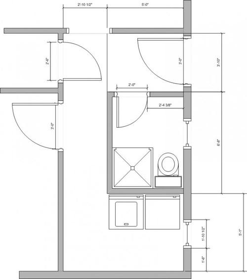 Need help with awkward laundry roombathroom floor plan