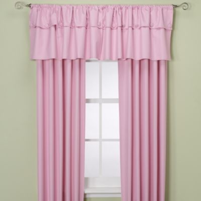 Orlando kid window curtain panel in pink contemporary for Kid curtains window treatments