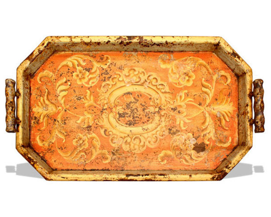 Accessory Trays - This accessory tray features a distressed scroll with medallion design and is available in a variety of finishes. See more at www.KoenigCollection.com