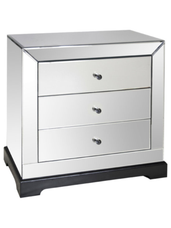 Worlds Away - Worlds Away - 3 Drawer Mirrored Chest In Mirrored - Wa-Chst-1 - This Worlds Away mirrored chest captures effortless elegance. Refined with beveled edges, the classic piece delivers the transitional bedroom sophisticated storage.