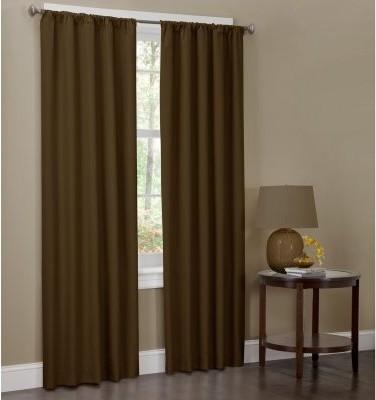 Maytex Microfiber Rod Pocket Curtain Panel - One Pair modern-curtains