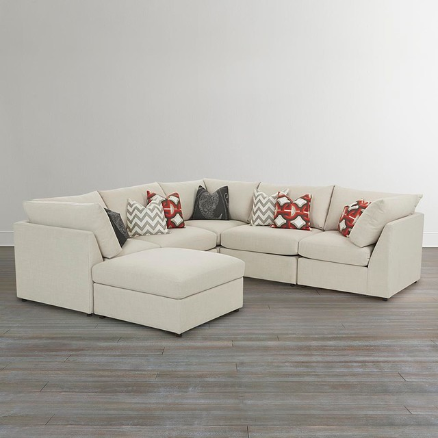 Diamond Modern White Leather U Shaped Sectional Sofa W: Beckham U-Shaped Sectional Sectional-sofas