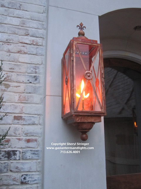 Front Door Gas Lanterns Traditional Houston By