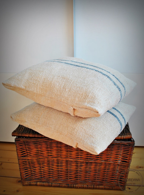 Vintage Authentic Grain Sack Pillow Cover by Medreana - Farmhouse - Decorative Pillows - by Etsy