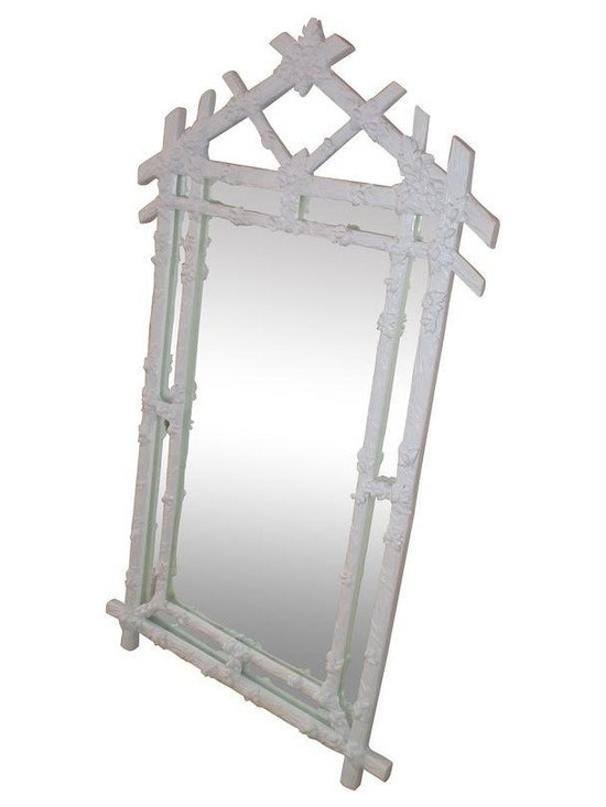 Pre-owned Gampel Stoll Faux Bois Wall Mirror - Excellent vintage condition.  Not sure if the mirror is constructed from wood or a composite material - but it is heavy.  Mirror glass is free of any chips or scratches.  Coordinates beautifully with the elephant console (see my other listing).