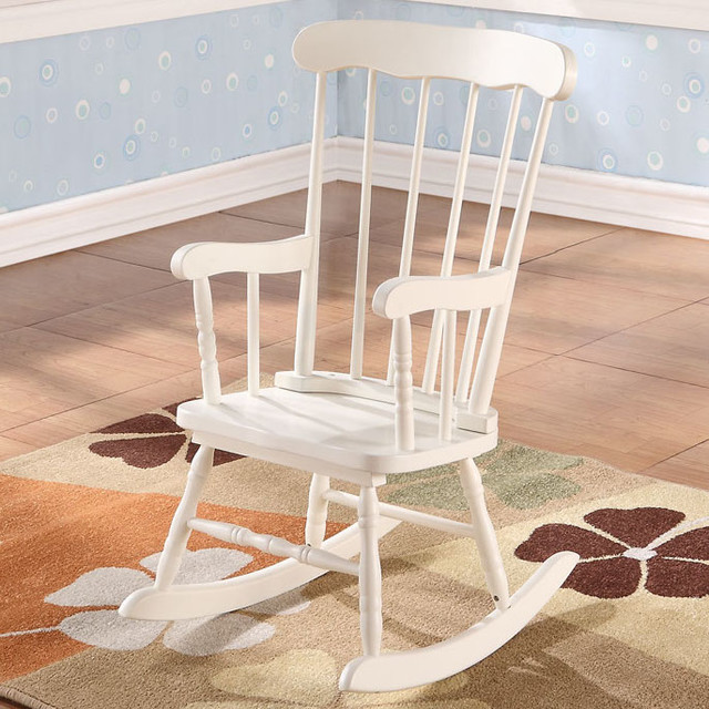 Kloris youth rocking chair in white modern rocking chairs - Modern white rocking chair ...