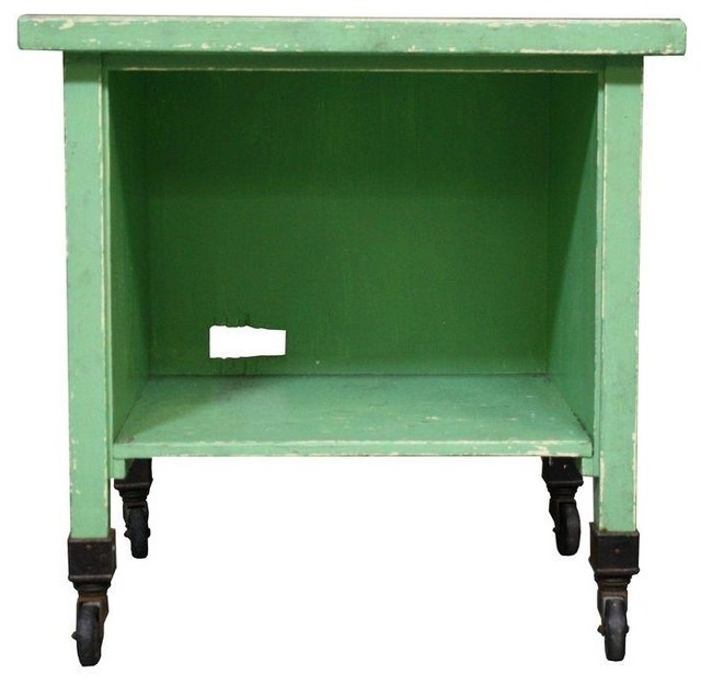 Vintage Green Laundry or Bar Cart - Modern - Filing Cabinets And Carts - by Chairish