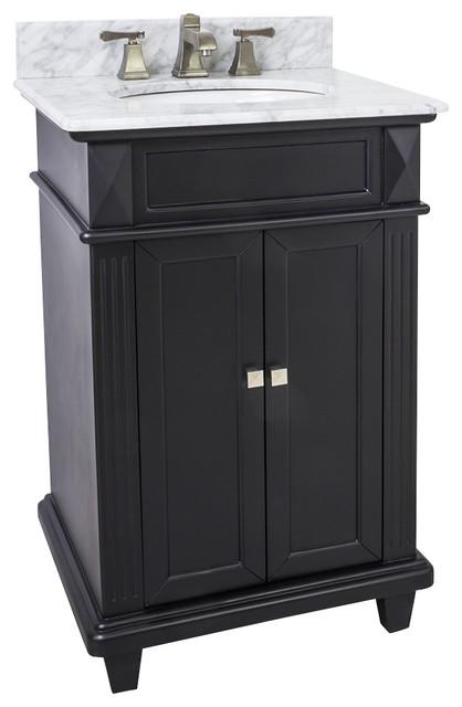 Lyn Design VAN057-T-MW, White Marble Top modern-bathroom-vanities-and-sink-consoles