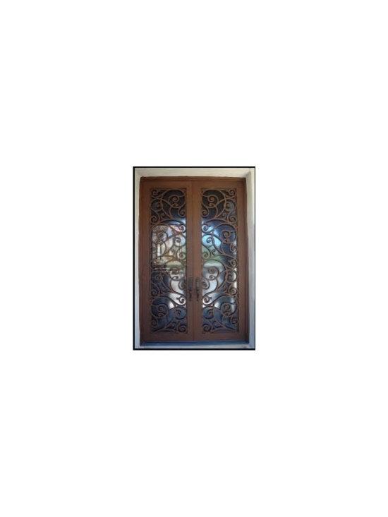 Iron Scroll Entry Door -