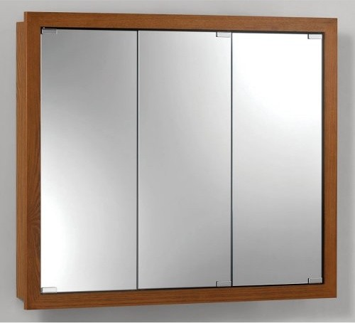 Broan-Nutone Granville Tri-View 30W x 26H in. Surface Mount Medicine Cabinet - Traditional ...