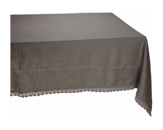 Dentelliere Taupe Rectangular Tablecloth -