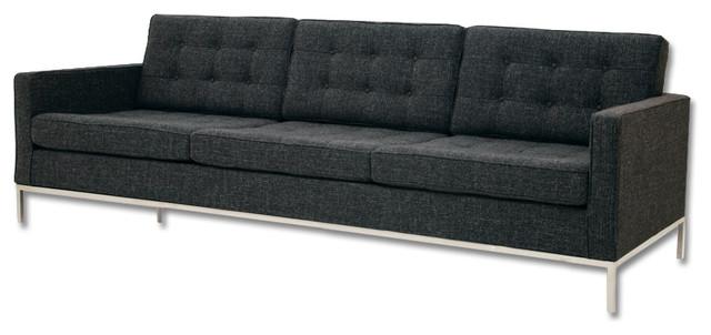 Ox grey tweed fabric sofa for Gray tweed couch
