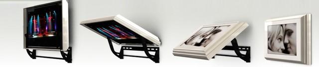 Flip-Around TV mount modern-bulletin-boards-and-chalkboards