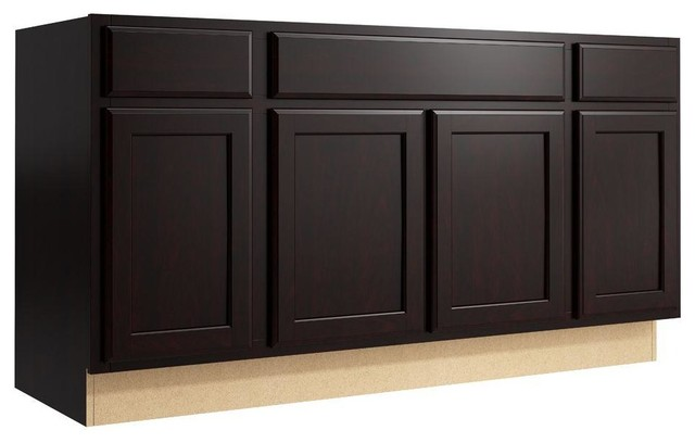 Cardell Cabinets Stig 60 In W X 31 In H Vanity Cabinet Only In Coffee Brown Contemporary