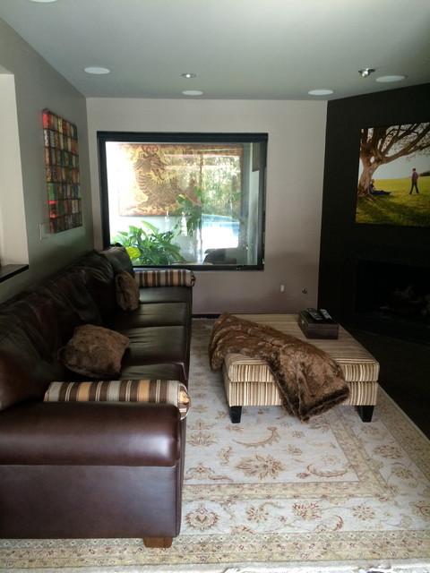 Hollywood Hills, CA transitional-living-room