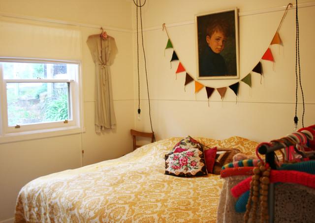 paula mills's home eclectic-bedroom