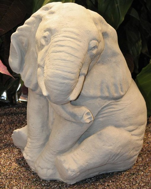 Elephant Statue Traditional Garden Statues And Yard Art