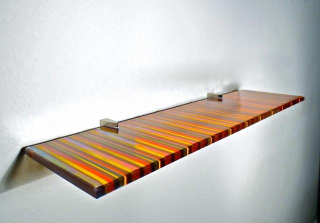 Artful Glass Shelves Modern Display And Wall Shelves