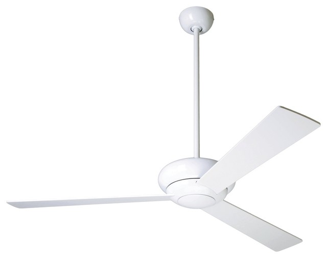 52 modern fan company altus glossy white ceiling fan Modern white ceiling fan