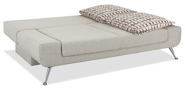 Lifestyle Solutions Amanda Convertible Sofa in Taupe traditional-sofas