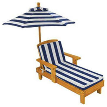Kids Outdoor Chaise and Umbrella Contemporary Kids