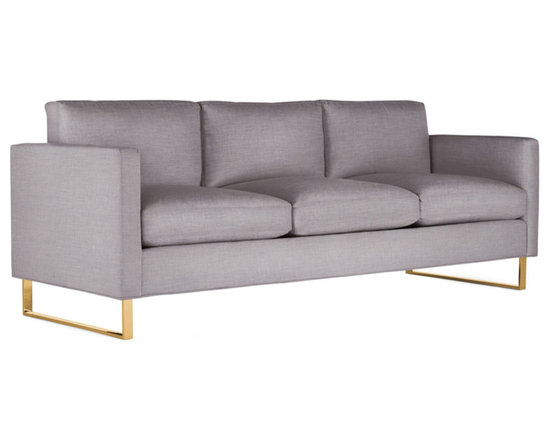 Goodland Sofa in Fabric, Bronze Legs -