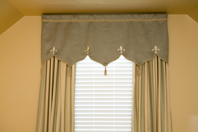 Sage Green And Gold Moroccan Style Valance And Panels With