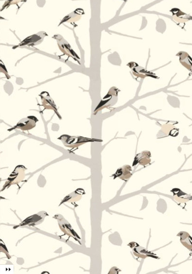 A-Twitter in Winter by Schumacher eclectic wallpaper