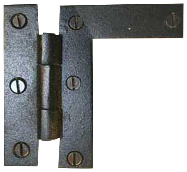 Cabinet Hinges Black Wrought Iron HL Hinge Flush 3 1/4H x 3 3/8W - Rustic - Hinges - by The ...