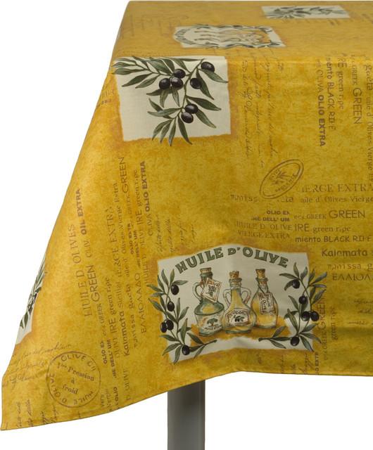 Les Baux Coated Cotton Tablecloth mediterranean-tablecloths