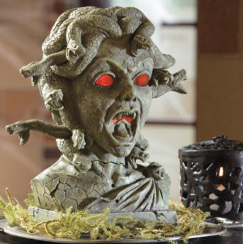 Medusa animated halloween bust halloween decorations and for Animated halloween decoration
