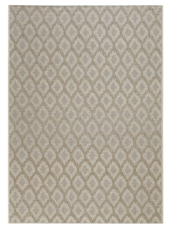 Thailand Diamond rug in Khaki - Thailand reweaves the rich, concentrated patterns of the Silk Road for today's fashion forward outdoorsy set.