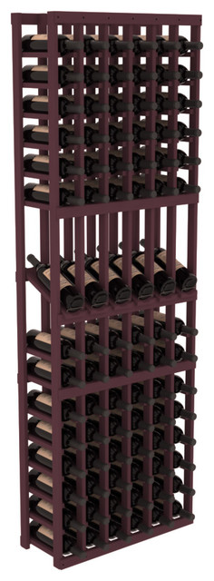 6 Column Display Row Wine Cellar Kit in Pine, Burgundy contemporary-wine-racks