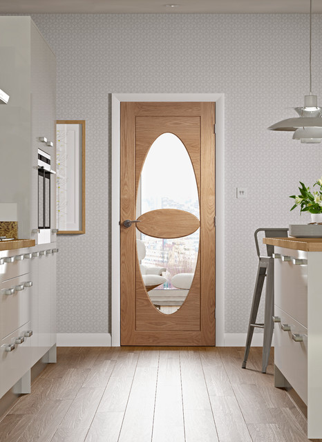Ragusa Oak Glazed Door Contemporary Interior Doors