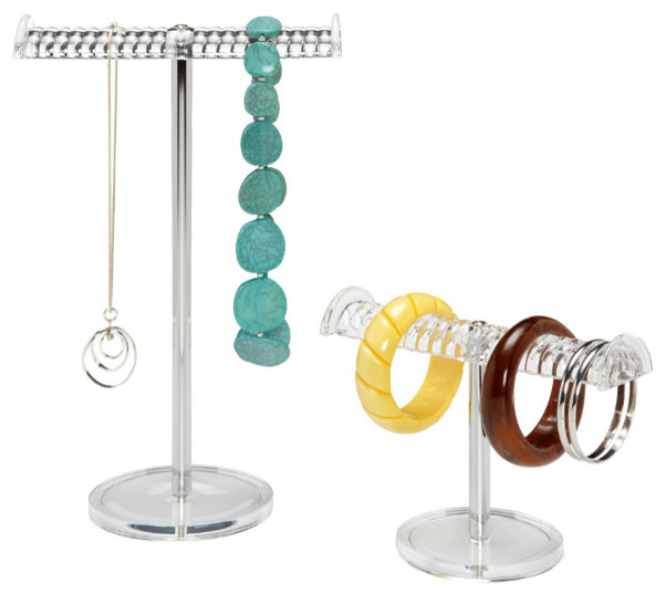Grooved Acrylic Jewelry Stands contemporary-jewelry-boxes-and-organizers